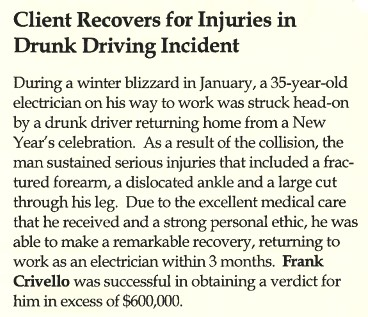 Drunk Driving Personal Injury Attorney